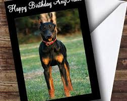 doberman cards etsy