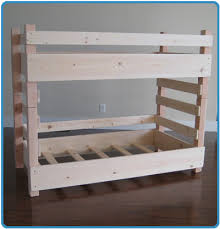 Wood For Building Bunk Beds by Diy Bunk Beds Kids Toddler Diy Bunk Bed Plans Fits Crib Size