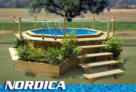 outdoor interesting landscaping around above ground pool 2017