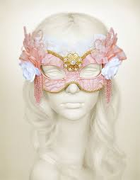 gold masquerade mask brocade covered pink gold masquerade mask with lace glitter