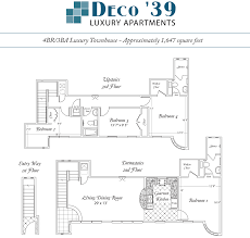 luxury townhome floor plans deco u002739 luxury apartments gainesville fl 4 bedroom 3 bathroom 2