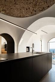 Dome Home Interior Design Home Design Black Furnished Large Modern Kitchen Island With White