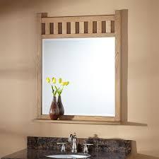Oak Framed Bathroom Mirrors 36