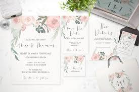 sle wedding invitation floral wedding invitation suite floral watercolor