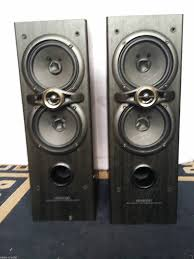 kenwood home theater kenwood 2x s f100 front bass reflex speakers in oldham