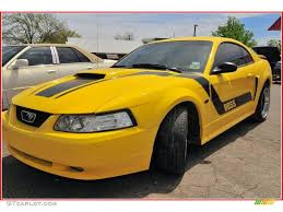 2001 Black Mustang Gt 2001 Zinc Yellow Metallic Ford Mustang Gt Coupe 7024486