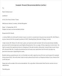 5 sample tenant recommendation letter free sample example