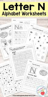letter n worksheets alphabet series easy peasy learners