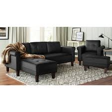 Fake Leather Sofa by 10 Spring Street Ashton Faux Leather Lounge Chair Walmart Com