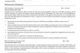 Accounts Receivable Resume Templates Sample Resume For Accounts Receivable Clerk Unforgettable