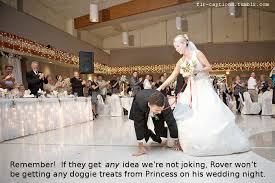 wedding captions remember if they get any idea we re not joking rover won t be