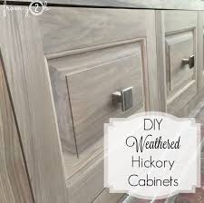 hickory grey stained kitchen cabinets from gardners 2 bergers diy weathered hickory cabinets