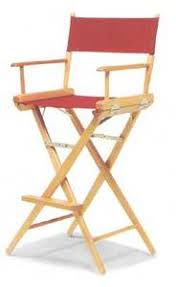Tall Directors Chair With Side Table Heavy Duty Tall Directors Chair With Side Table By Pacific Imports
