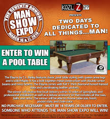 mini pool table academy the kozl man show expo march 16 17 2018