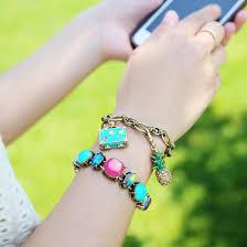 ring charm bracelet images Jewels pineapple neon jewelry neon jewels bracelets jpg