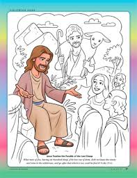 jesus the good shepherd coloring pages the shepherd and the lost sheep friend june 2013 friend