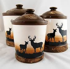 deere kitchen canisters deer kitchen decor