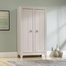 White Storage Cabinet Adept Storage Wide Storage Cabinet 418140 Sauder
