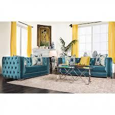 modern victorian furniture salvatore modern victorian turquoise premium velvet fabric 2pcs