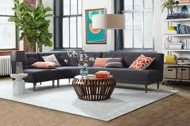 rounded retro sectional west elm workspace west elm workspace
