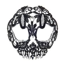 lace accessories antifaz con diseño de calavera de encaje en negro 14 99