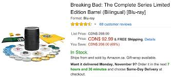 amazon black friday deals canada amazon canada black friday deals of the day save 69 on breaking