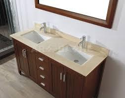 Bathroom Sink On Top Of Vanity Bathe Jackie 60 Cherry Bathroom Vanities Marble Or