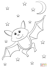 cartoon bat coloring free printable coloring pages