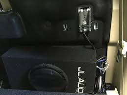 wiring a sub subwoofer and amplifier in 2015 f 150 no door