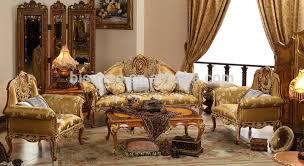 Gold Sofa Living Room Vintage Furniture Living Room Gold Painting Sofa Set