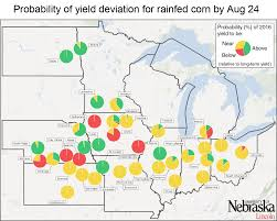 Brunswick Ohio Map by Corn Yield Forecasts For Aug 24 Including State Forecasts