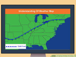 us weather map cold fronts how to read a weather map with pictures wikihow