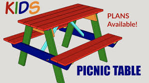 kids picnic table plans kids picnic table woodworking project with plans youtube