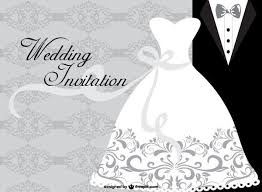 wedding dress card design template 123freevectors