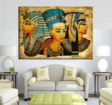 aliexpress com buy large wall art canvas pharaoh of egyptian aliexpress com buy large wall art canvas pharaoh of egyptian home decoration paintings modern abstract wall painting wall picture for living room from