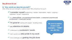 Words To Use In A Resume To Describe Yourself English Tips For Job Interview Berlitz Australia