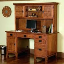 Computer Desk With Hutch Desk Mission Craftsman Oak Computer Desk Hutch View Images