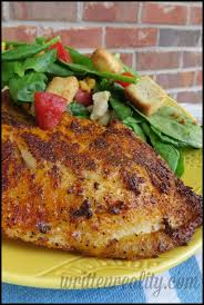 blackened fish on the grill written reality