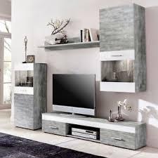 wohnwand jugendzimmer wohnwand beton weiß anbauwand wohnzimmer tv fernsehschrank