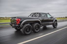 mercedes benz jeep 6 wheels hennessey u0027s crazy 6 wheel raptor is heading to production