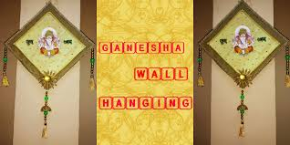 Craft Invitation Card Ganesha Wall Hanging Best Out Of Waste From Old Invitation Cards