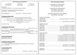 wedding program catholic catholic ceremony without mass wedding program exle from