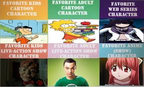 Meme Types - my favorite types of characters meme by bloodysimpsonchibi on