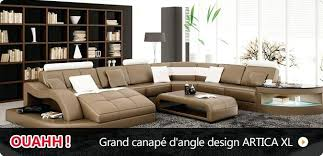 grand canapé pas cher canape angle cuir pas cher grand dangle design canape angle cuir