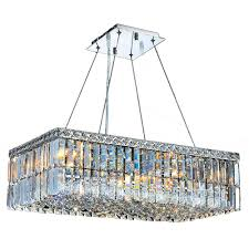 Chrome Crystal Chandelier by Worldwide Lighting Chandeliers Series Collection Cascade
