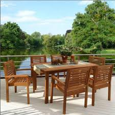 Wood Patio Dining Table by Hampton Bay Bolingbrook 7 Piece Patio Dining Set With Sunbrella