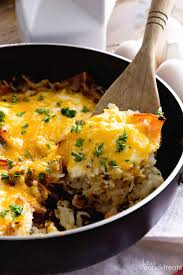 egg recipes for dinner cheesy bacon egg hash brown skillet giveaway julie u0027s eats u0026 treats