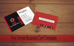 free simple business card template free business card graphic