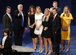 donald trump family hillary clinton and donald trump ditch reporters to travel to debate