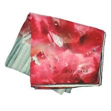 elie saab scarf mint green red pink floral chiffon silk shawl